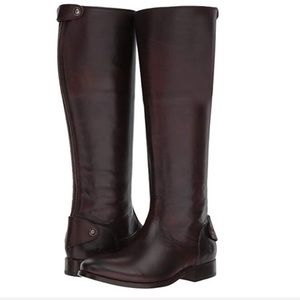 Frye Mellisa Knee High Riding Boots in Dark Brown